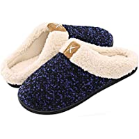 Inverno Pantofole da Casa Uomo Donna Memoria Schiuma Scarpe in Caldo Peluche Cotone Morbido Antiscivolo Interno Esterno…