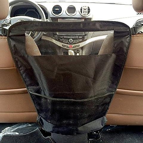 Goodid barrera protector de seguridad nylon con correa ajustable y un bolso de asiento trasero de coche para mantenar mascota perro o gato detras (Negro)