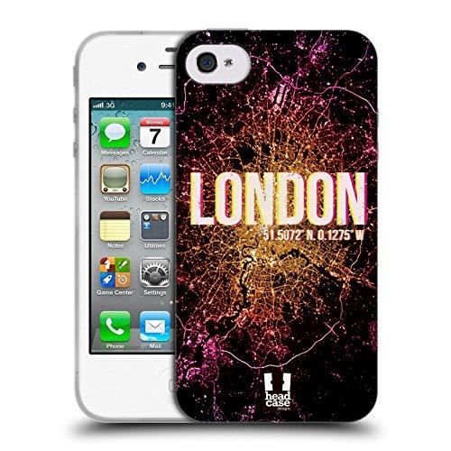 Head Case Designs Los Angeles Lichter Der Stadt Soft Gel Hülle für Apple iPhone 6 / 6s London