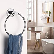 New Stainless Steel Towel Ring Holder Hanger Chrome Wall Mounted Bathroom Home Hotel