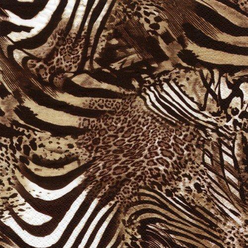 20 Servietten Be wild - Afrikanische Tiermuster / Tiere / Afrika 33x33cm