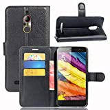 ZTE Nubia N1 Lite Handyhülle Book Case ZTE Nubia N1 Lite Hülle Klapphülle Tasche im Retro Wallet Design mit Praktischer Aufstellfunktion - Etui Schwarz
