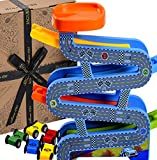 Jaques of London Wooden Toys Carpark Perfect toddler toys for 2 3 4 year olds - Includes Toy cars, Speed Ramps and Racetrack. Perfect Toddler Toys.