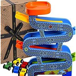 Jaques of London Giocattoli in Legno Carpark Giocattoli per Bambini Perfetti per 1 2 3 Bambini di 4