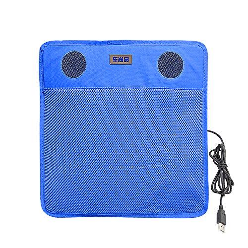 Hjjh cuscino per seggiolino auto di raffreddamento, cuscino ammortizzatore per sedile auto usb, adatto per seggiolino auto, ginnastica mattutina, raffreddamento computer,blue