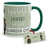 Kembilove Taza de Café del Mejor Guardia Civil del Mundo Personalizada con el Nombre – Taza de Desayuno para la Oficina – Taz