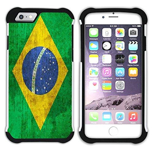 Graphic4You Vintage Uralt Flagge Von Bolivien Bolivianer Design Hart + Weiche Kratzfeste Hülle Case Schale Tasche Schutzhülle für Apple iPhone 6 / 6S Brasilien Brasilianisch