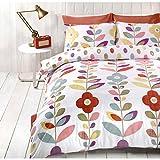 Floreale Retro Copripiumino Contemporary Biancheria da letto reversibile Multicolore Biancheria da letto Multicolore ( Rosso Blu Giallo Verde ) Copri Piumino Doppio