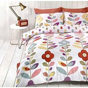Just contempo copripiumino trapuntato double face misto cotone set di biancheria da letto con - Biancheria da letto amazon ...