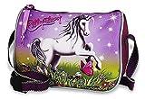 Kleine - Einhorn / Unicorn - Schultertasche / Handtasche / Tasche + 16 Pferde Sticker - Kinder Umhängetasche