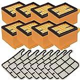 8 Stück Filter Mikrofilter Hepa und Motorschutzfilter passend für Vorwerk Kobold 135 136