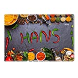Tischset mit Namen ''Hans'' Motiv Chili - Tischunterlage, Platzset, Platzdeckchen, Platzunterlage, Namenstischset