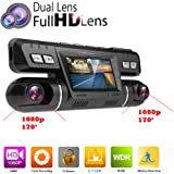 PolarLander WiFi Auto DVR Video Fahrzeug Dash Kamera Recorder Novatek 96660 Dashcam Dual Objektiv Full HD 1080P 170 Grad Black Box Dashboard Mit GPS Logger