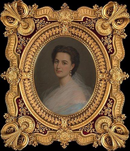 """Michele Gordigiani – Portrait of a Woman (Marianna Panciatichi marchesa Paolucci delle Roncole 1835 """"1919 or her sister-in-law Beatrice Ferrari-Corbelli di Reggio contessa di Lucciano) Kunstdruck (45,72 x 60,96 cm)"""