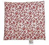 Traubenkernkissen Rosen rot (24x24) als Wärmekissen