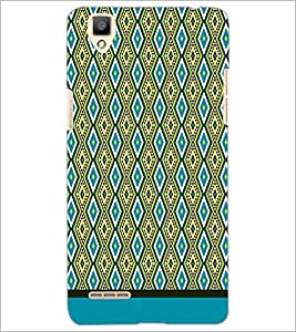 PrintDhaba Diamond Pattern D-1751 Back Case Cover for OPPO F1 (Multi-Coloured)