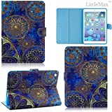 iPad Mini Case,Mini 2/3 Case - LittleMax(TM) Synthetic Leather Stand Case [Card Holder] Stylish Flip Folio Wallet Case Cover for iPad Mini 1/2/3 [Free Cleaning Cloth,Stylus Pen]--#1 Metal Floriation