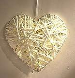 Hängelampe Herz mit 10 LED - Fenster Dekoration - Hänge Deko Hängeleuchte Dekoleuchte