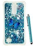 CAIYUNL for LG K20 V Case, LG K20 Plus Case Glitter, LG
