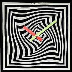 Idea Regalo - NeXtime Crazy Time Orologio da Parete, da Cucina, da Ufficio, da Soggiorno, Decorazioni, Vetro, Nero, Bianco, 43 x 43 cm, 8177