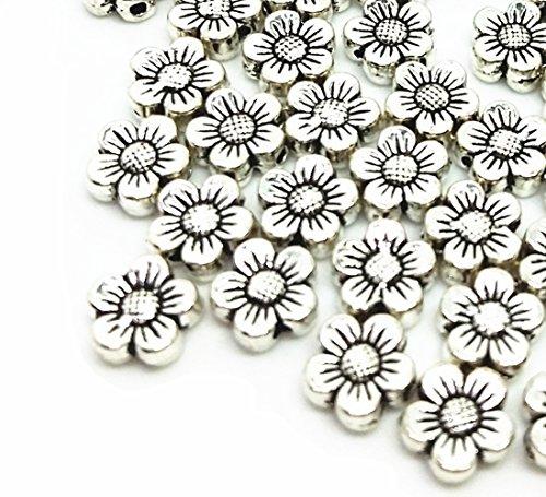 Mardi Wholesale Beads Gras (qtmy 50PCS 2mm macroporous Blume Spacer Perlen für Schmuck-Herstellung in)