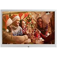 12-Zoll-Digital-Bilderrahmen aus Metall Foto-Video-Player Auflösung 1280 x 800 mit Fernbedienung, USB- / SD- / MMC- / MS…