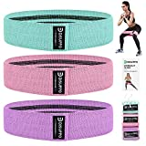 DISUPPO Resistance Bands 3 Sets, Non Slip Exercise Bands voor benen en kont, Workout Fitness Bands Wide Booty Bands voor Yoga, Pilates, Muscle Training, Gym