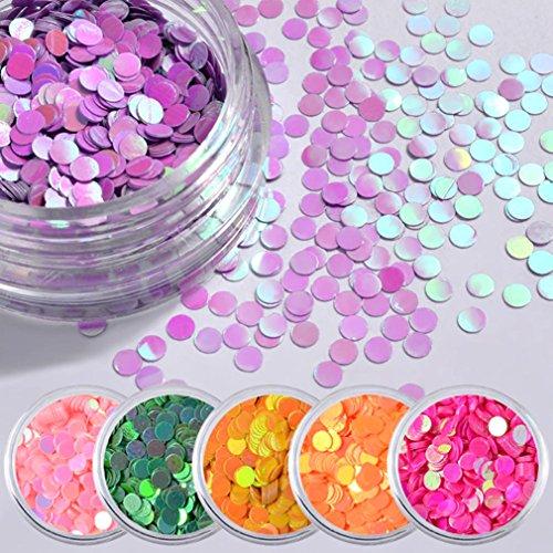 So-buts 6color redondo lentejuelas deslumbrantes