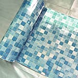 Bluelans® 45cm x 100cm Self Adhesive Mosaic Wall Tile Decals Wall Sticker - Oil-proof and Waterproof - Bathroom Tile Stickers \ Kitchen Tile Stickers \ Wall Tiles Transfers (Blue)