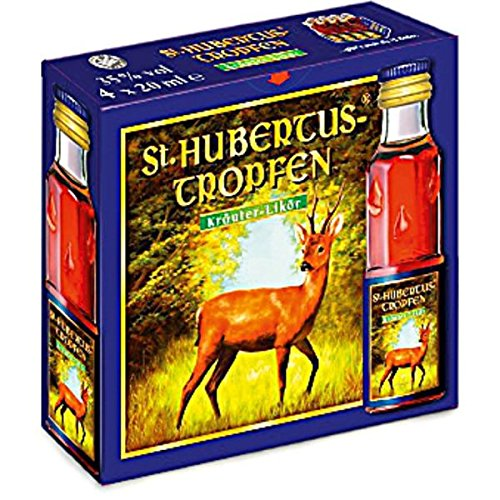20 Boxen a 4 Fläschchen Hubertus Tropfen a 20ml 30% Vol. 20 x 4 x 20ml