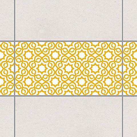 Fliesen Bordüre - Islamic White Melon Yellow 30cm x 60cm, Setgröße:20teilig