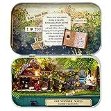 LuckyGirls DIY Miniature 3D Maison de Poupée Dollhouse Kit pour Boîte Théâtre Trilogie Forêt Verte (B)