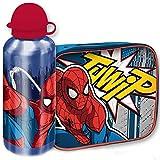 Kit cestino termico + borraccia del supereroe Marvel Spiderman, realizzato in materiale isolante, adatto a mantenere il contenuto ad una temperatura ideale e costante. Utile per l'asilo, o per le scuole elementari, il cestino può essere comod...