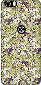 The Racoon Lean printed designer hard back mobile phone case cover for Creo Mark 1. (Mash Abstr)