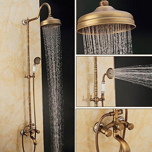 Preisvergleich Produktbild saejj-european Kupfer Antik Dusche-Sets, Wandmontage Wasserhahn DeLuxe Hot und Cold Dusche, Handbrause