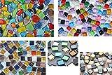 Mosaiksteine aus 5versch. Artikeln Bastelmix1, 240g ca. 290St.