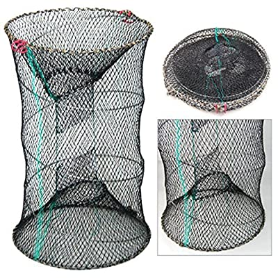 Efbock Crab Shrimp Crayfish Trap Cages Pot Sea Fishing Tackle Prawn Lobster Net 1pcs from efbock