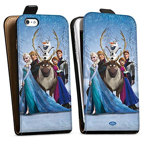 Apple iPhone X Silikon Hülle Case Schutzhülle Disney Frozen Geschenke Fanartikel Downflip Tasche schwarz