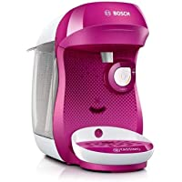 Bosch Electroménager TAS1001 Happy Machine à café, 1400 W, 0.7 litre, Rose