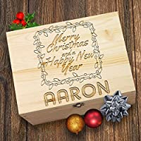 TWISTED ENVY Personalised Merry Christmas Wooden Christmas Eve Box
