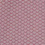 Tissu Coton Cretonne Vague Japonaise - Rouge - par 50 cm - Oeko-Tex