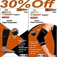 Sira Kupfer-Kompressions-Wadenmanschette, Ellenbogen-Ärmel, Arthritis-Schmerzlinderung, Schwellungen, Muskel-... preisvergleich bei billige-tabletten.eu
