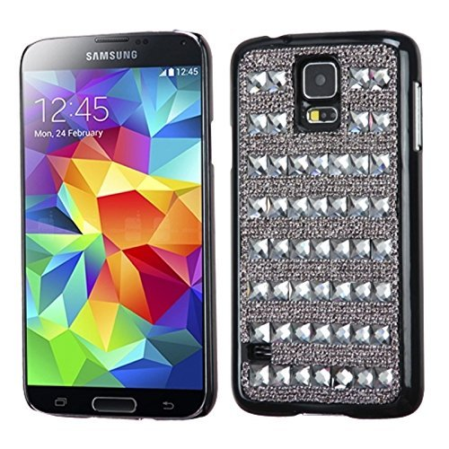 MyBat Crystal CheckerDiamante Desire Schutzhülle für Samsung Galaxy S5, Brown Crystal Checker Checker Crystal