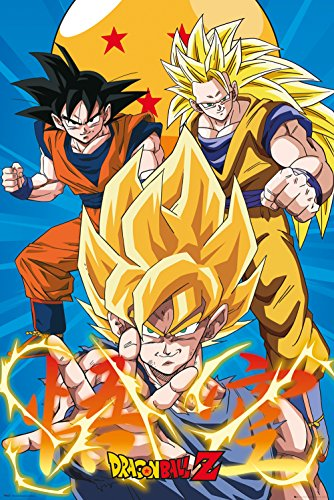 GB Eye LTD, Dragon Ball Z, 3 Gokus, Maxi Poster