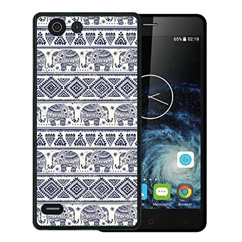 Elephone S2 Hülle, WoowCase Handyhülle Silikon für [ Elephone S2 ] Blauer Elefant Handytasche Handy Cover Case Schutzhülle Flexible TPU - Schwarz