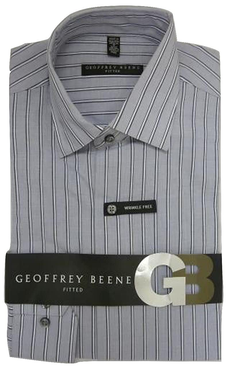 Geoffrey Beene Mens Shirt Tailored Fitted Cotton Rich easycare Long Sleeve:  Amazon.co.uk: Clothing