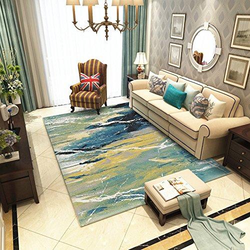 BAGEHUA Simple Salon Table Basse Tapis Tapis Maison Moderne Literie Chevet Couverture Modèle Chambre Lavable, 80X150cm, Ms-09