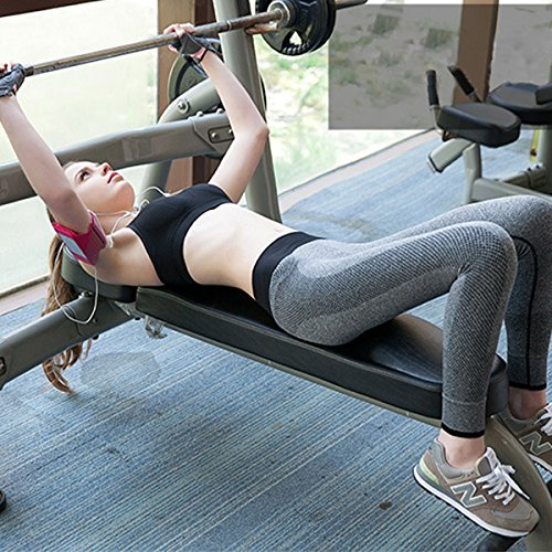 Keysui Yoga Gilet, Femmes Soutien-gorge rembourré Top Athletic Gilet Fitness Sport Yoga stretch Noir + Bleu