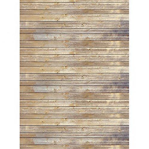 Leinwand Falten Anzug (SAILUN® 1,5 x 2,1 m Hellgelb Holzboden Hintergründe für Fotostudio Hintergrundsystem Holzfussboden Hintergrundstoff)