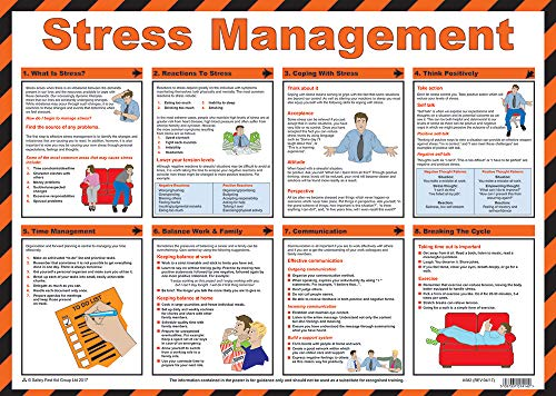 """Poster""""Safety First Aid Group Stress Management"""", laminiert, 59 x 42 cm"""